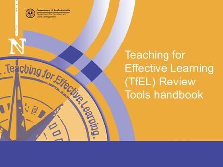 Teaching for Effective Learning (TfEL) Review Tools handbook