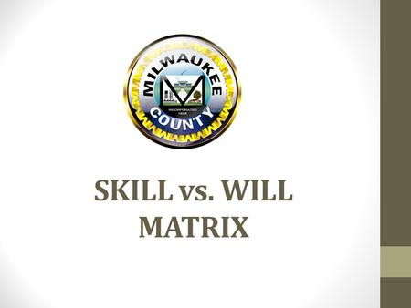 SKILL vs. WILL MATRIX.