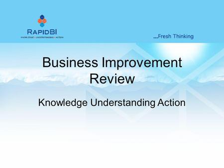 Business Improvement Review Knowledge Understanding Action.