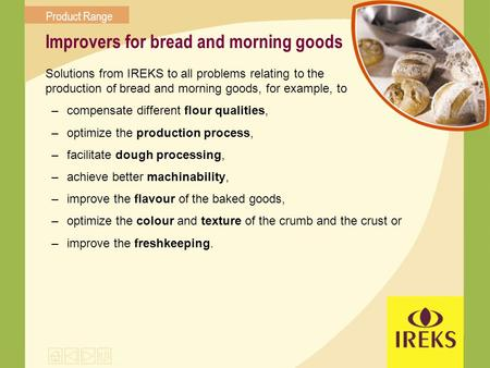 Improvers for bread and morning goods
