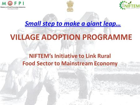 VILLAGE ADOPTION PROGRAMME