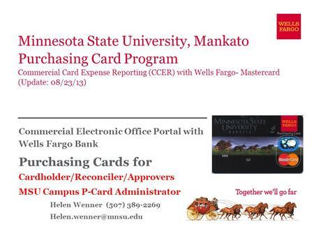 Minnesota state university mankato purchasing card program minnesota state university mankato purchasing card program commercial card expense reporting ccer with colourmoves