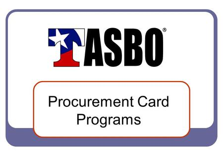 Procurement Card Programs