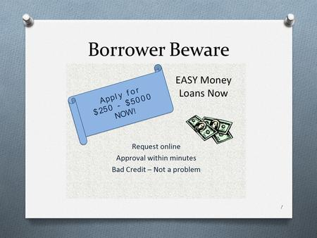 Borrower Beware 1. Why Borrow? 2 Consumer Debt for 2012 O Average credit card debt per household: O Total credit card debt in America: O Average student.