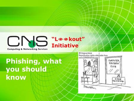 Phishing, what you should know L kout Initiative.
