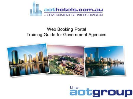 Web Booking Portal Training Guide for Government Agencies.