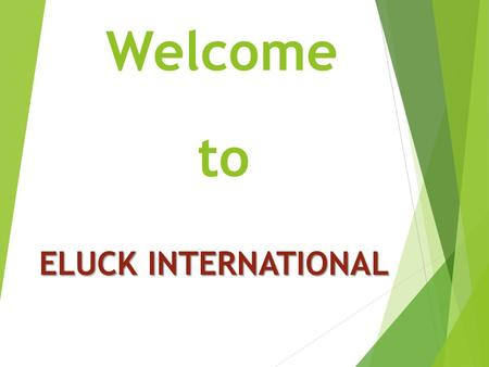 Welcome to ELUCK INTERNATIONAL.