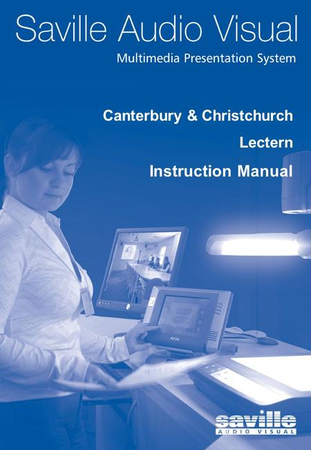 1 Front Cover Canterbury & Christchurch Lectern Instruction Manual.