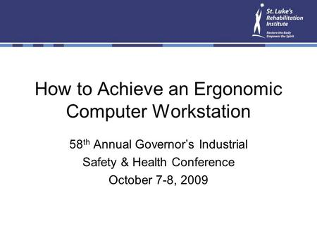 How to Achieve an Ergonomic Computer Workstation