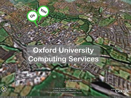 You Oxford University Computing Services Us. OUCS is at 13 Banbury Road.