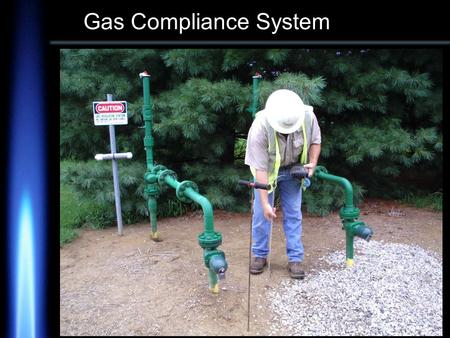 Gas Compliance System. Based on DOT 192 requirements Non-Compliance Warnings MS Windows look and feel for the user Oracle database on the server Uses.