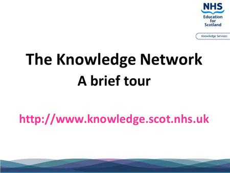 The Knowledge Network A brief tour