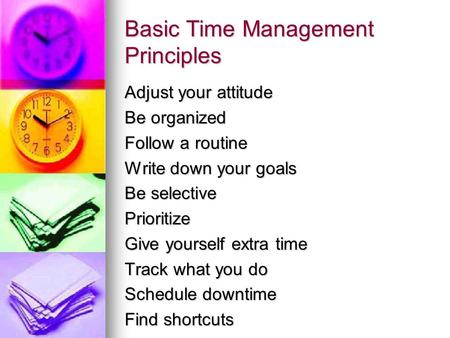 Basic Time Management Principles