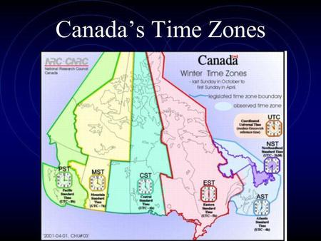Canada's Time Zones.