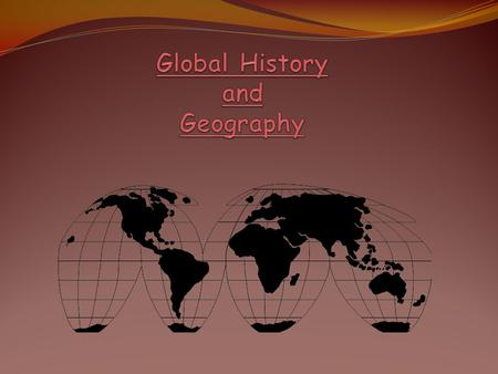 Introduction to our World -A Physical Earth -B Culture -C Chronological Time.