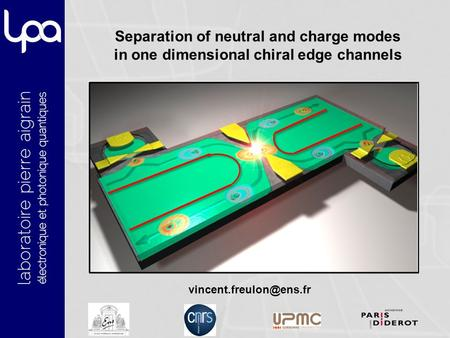 Separation of neutral and charge modes in one dimensional chiral edge channels