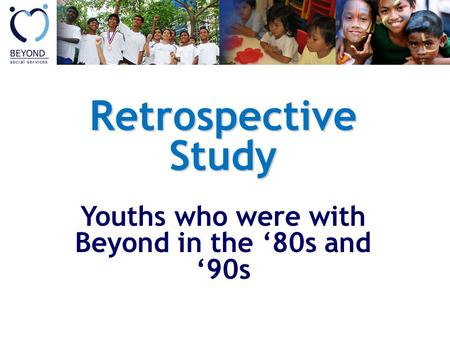 Retrospective Study Youths who were with Beyond in the 80s and 90s.
