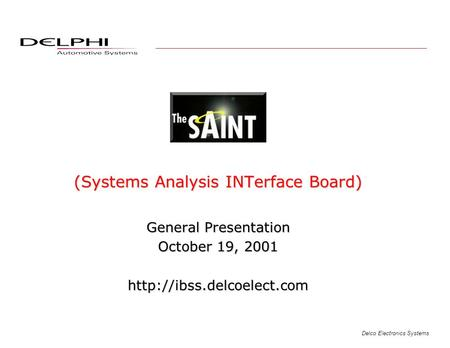 (Systems Analysis INTerface Board)