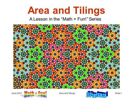 "A Lesson in the ""Math + Fun!"" Series"