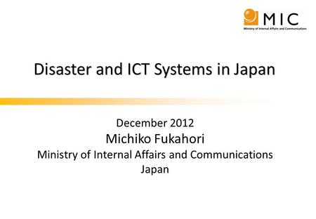 Contents Ⅰ. Disaster countermeasures and Great East Japan disaster
