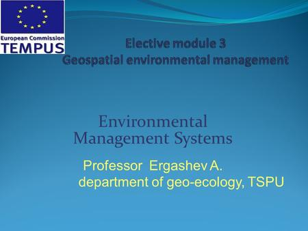 Elective module 3 Geospatial environmental management