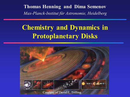 Chemistry and Dynamics in Protoplanetary Disks