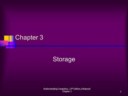 Understanding Computers, 12 th Edition, Enhanced Chapter 3 1 Storage.