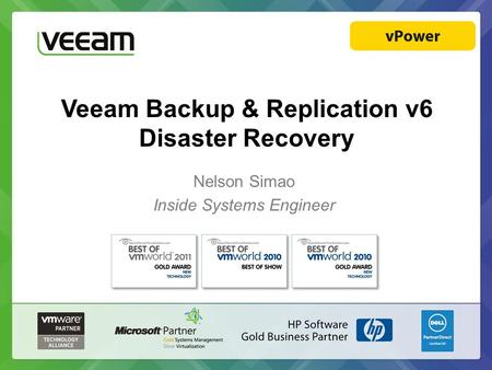 Veeam Backup & Replication v6 Disaster Recovery