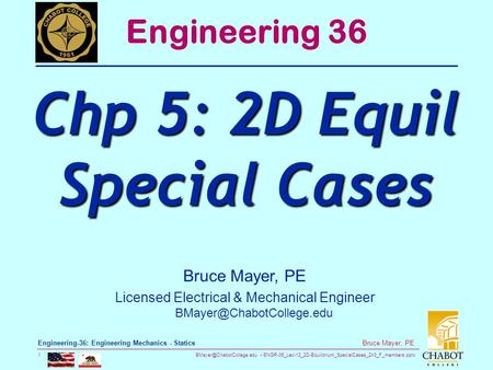 Chp 5: 2D Equil Special Cases