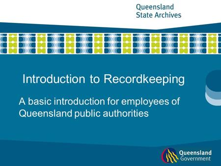Introduction to Recordkeeping