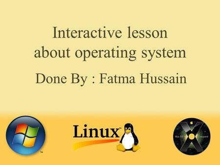 Interactive lesson about operating system