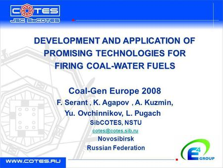 DEVELOPMENT AND APPLICATION OF PROMISING TECHNOLOGIES FOR