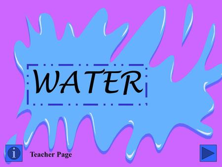 WATER Teacher Page.
