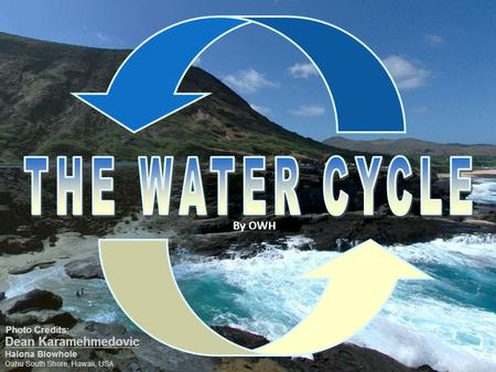 THE WATER CYCLE By OWH.
