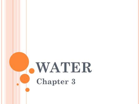WATER Chapter 3.