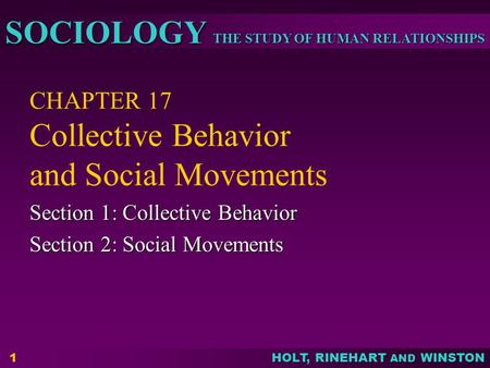 CHAPTER 17 Collective Behavior and Social Movements