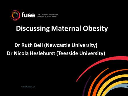 Discussing Maternal <strong>Obesity</strong>