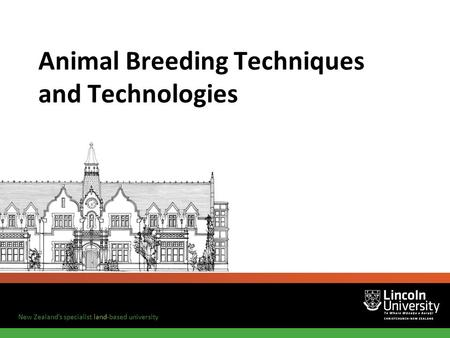 Animal Breeding Techniques and Technologies