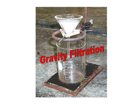 When do we use Gravity Filtration? Filtration is the separation method of choice when the phases to be separated are a solid (precipitate) and a liquid.
