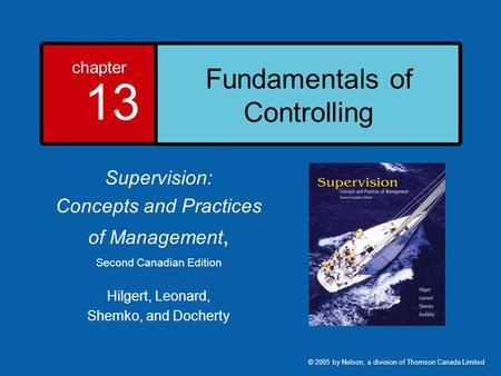 Fundamentals of Controlling