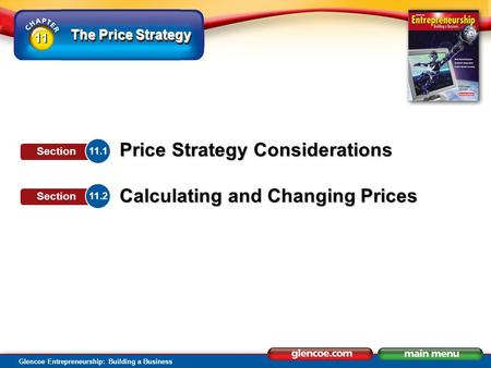 Section Objectives Identify factors that affect price strategy.