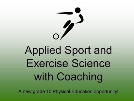 Applied Sport and Exercise Science with Coaching