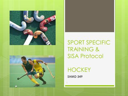 SPORT SPECIFIC TRAINING & SISA Protocol HOCKEY SHMD 349 1.