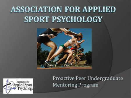 GAME PLAN 1. Background: What is applied sport, exercise, and performance psychology? 2. Who is a Sport Psychology Consultant and what do they do? 3.