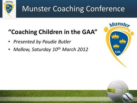 Munster Coaching Conference