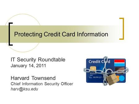 Protecting Credit Card Information