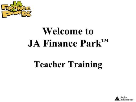 Welcome to JA Finance Park™