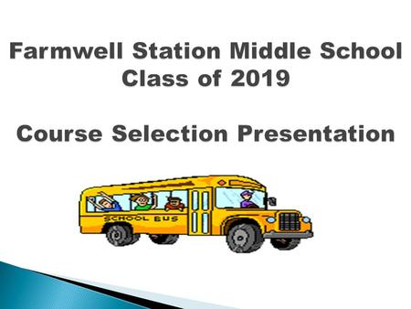 Farmwell Station Middle School Class of 2019 Course Selection Presentation.