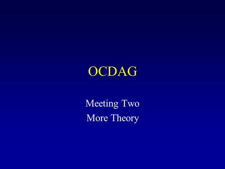 Meeting Two More Theory