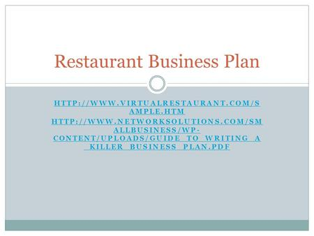 AMPLE.HTM  ALLBUSINESS/WP- CONTENT/UPLOADS/GUIDE_TO_WRITING_A _KILLER_BUSINESS_PLAN.PDF.